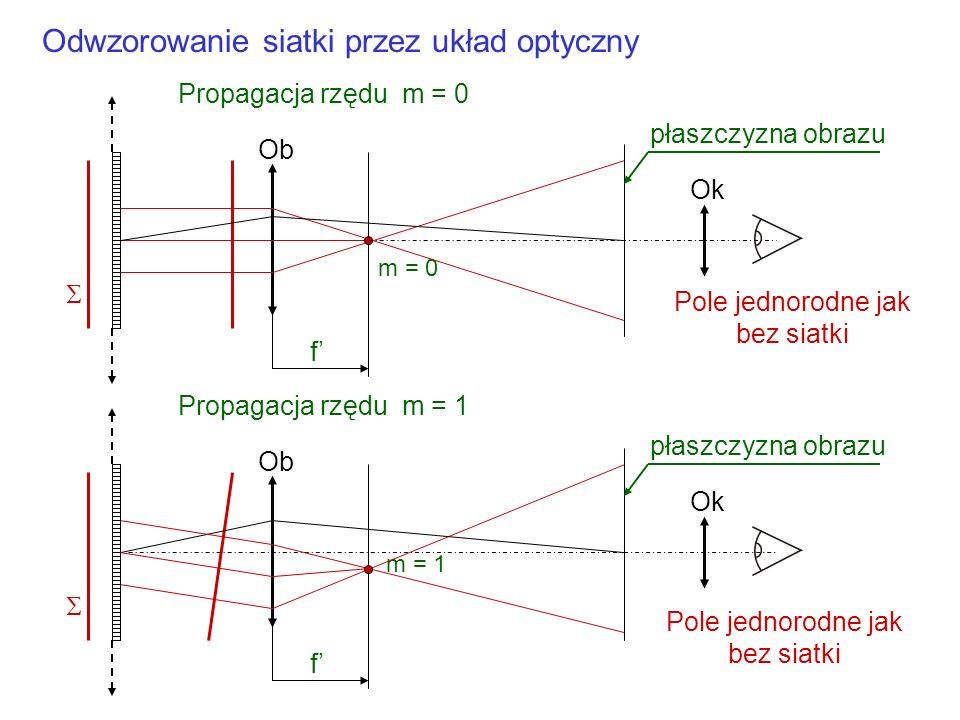Odwzorowanie siatki przez układ optyczny