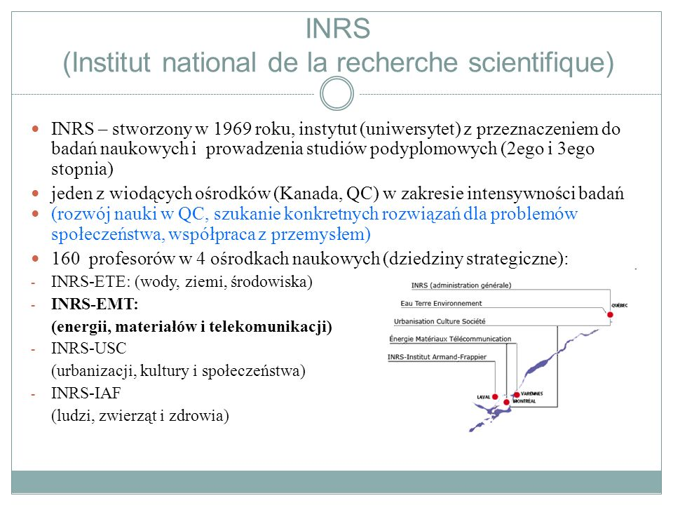 INRS (Institut national de la recherche scientifique)