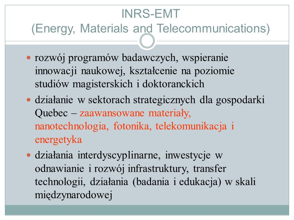 INRS-EMT (Energy, Materials and Telecommunications)