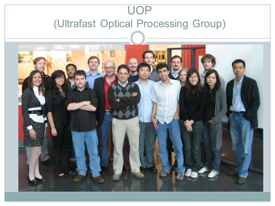 UOP (Ultrafast Optical Processing Group)