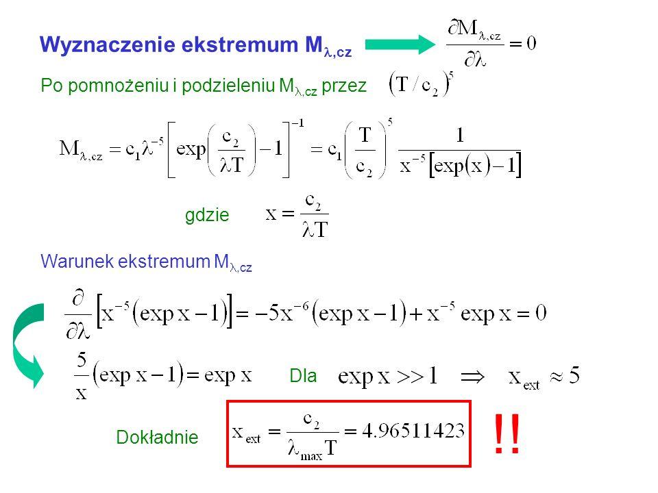 !! Wyznaczenie ekstremum M,cz Po pomnożeniu i podzieleniu M,cz przez