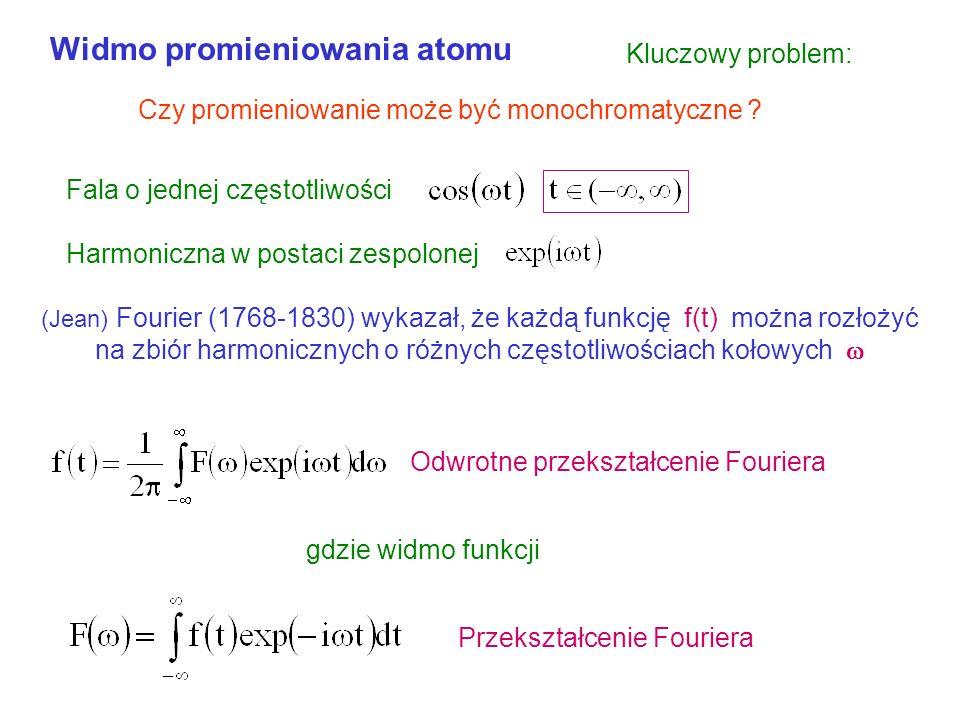 Widmo promieniowania atomu