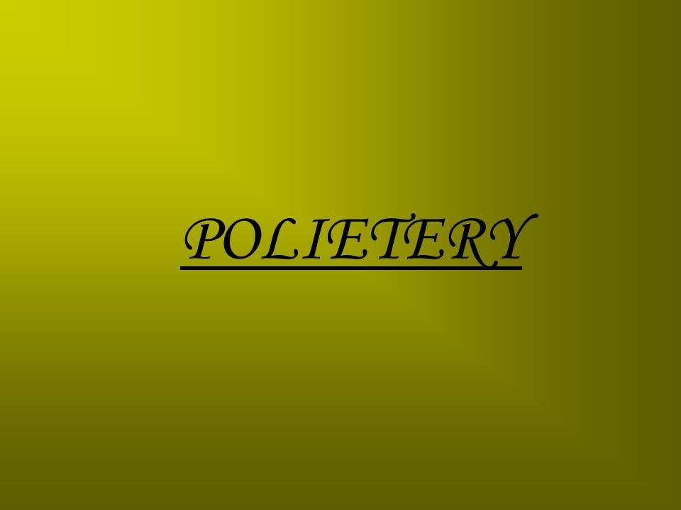 POLIETERY