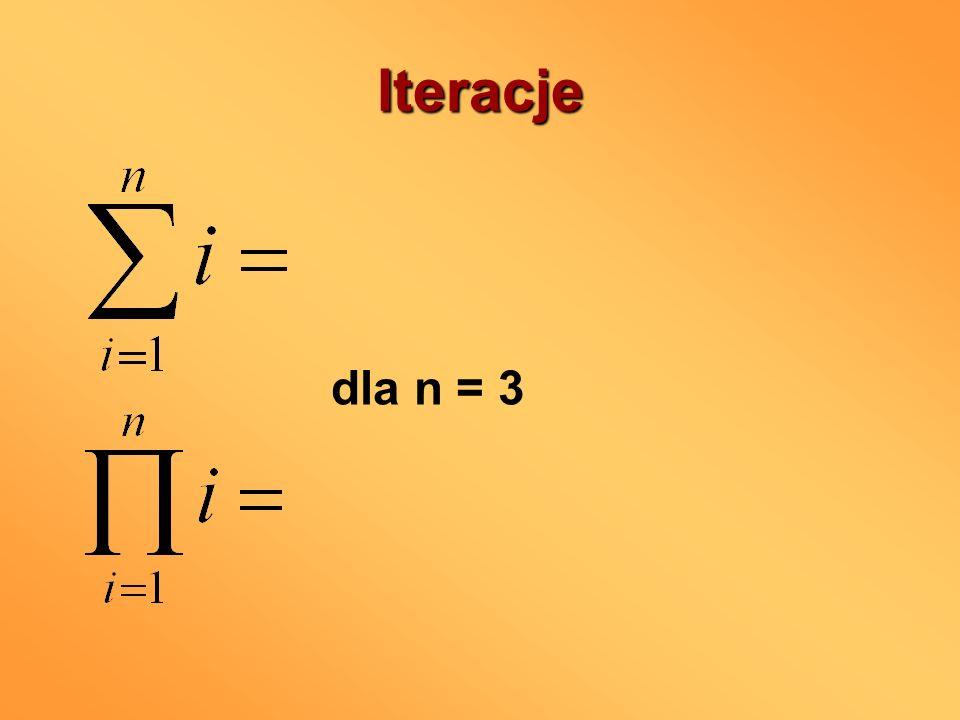 Iteracje dla n = 3