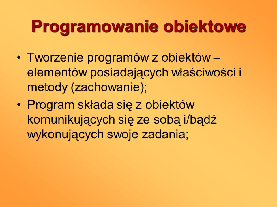Programowanie obiektowe