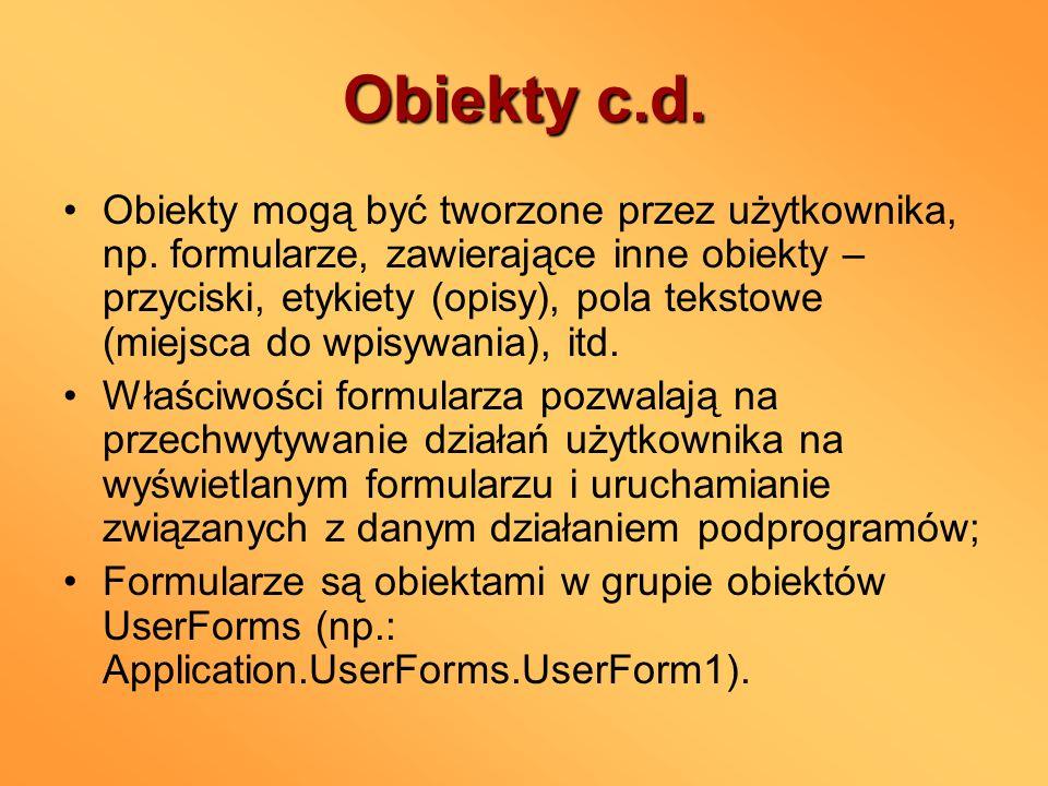 Obiekty c.d.