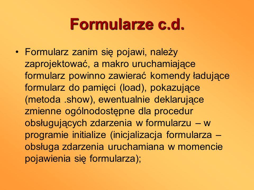 Formularze c.d.