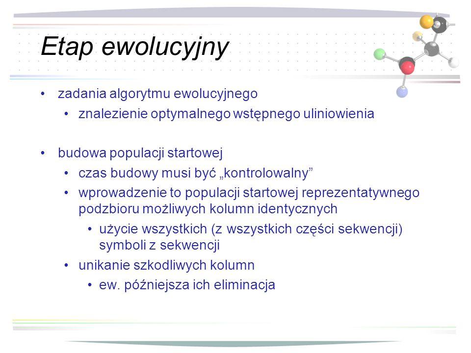 Etap ewolucyjny zadania algorytmu ewolucyjnego