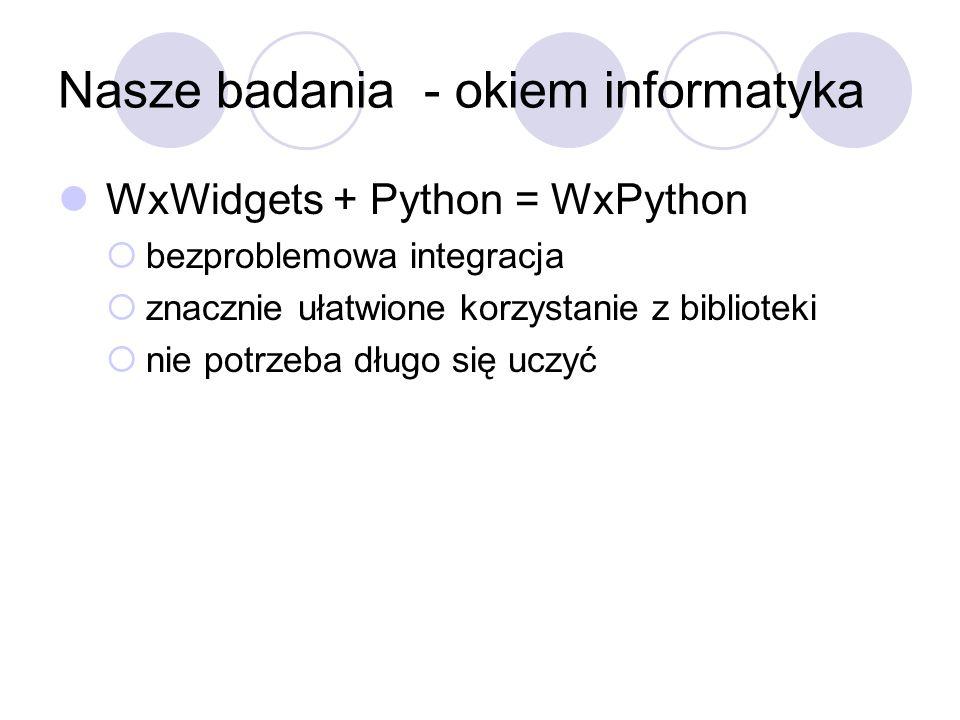 Nasze badania - okiem informatyka
