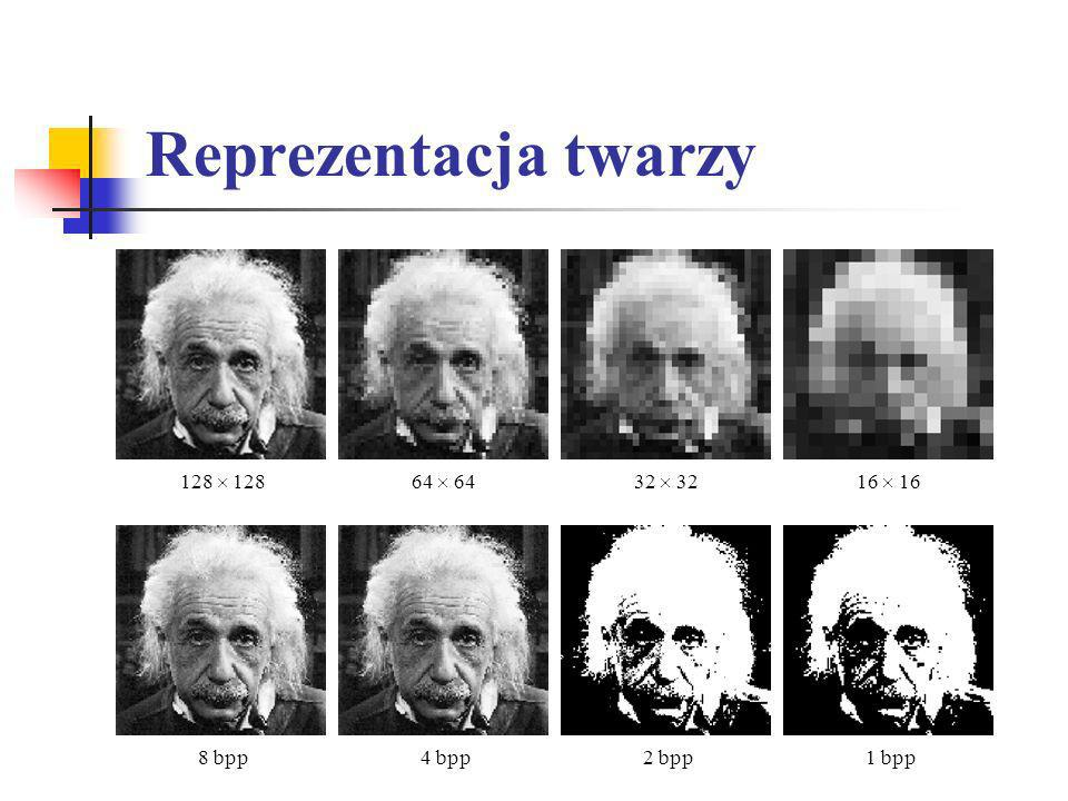 Reprezentacja twarzy 128  128 64  64 32  32 16  16 8 bpp 4 bpp