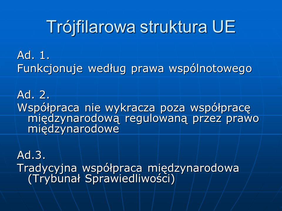 Trójfilarowa struktura UE