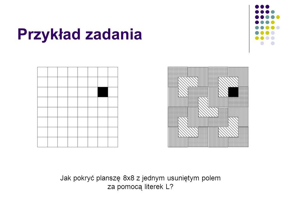 Jak pokryć planszę 8x8 z jednym usuniętym polem za pomocą literek L