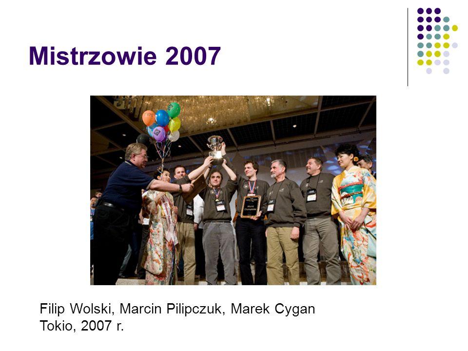 Mistrzowie 2007 Filip Wolski, Marcin Pilipczuk, Marek Cygan
