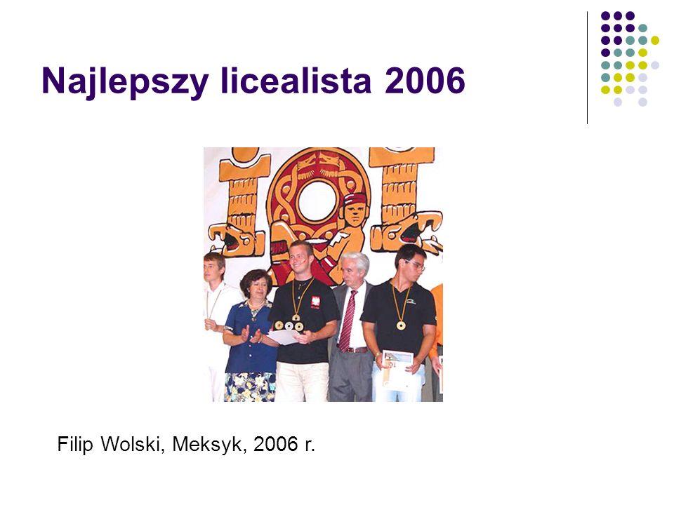 Najlepszy licealista 2006 Filip Wolski, Meksyk, 2006 r.