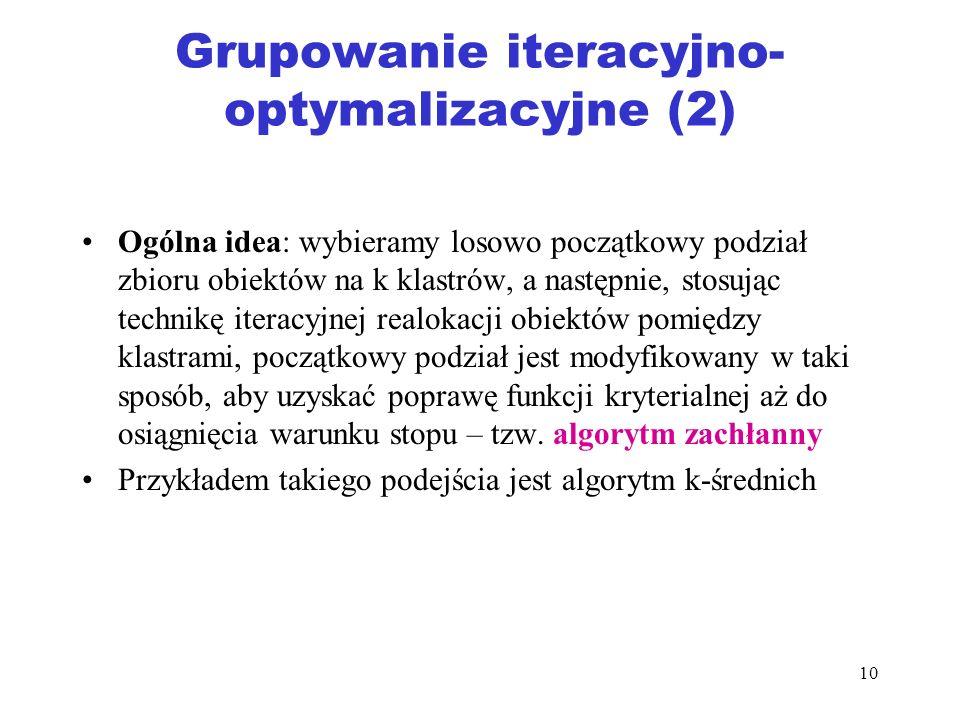 Grupowanie iteracyjno-optymalizacyjne (2)
