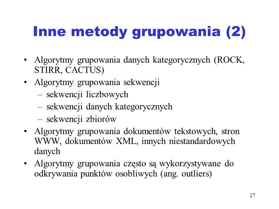 Inne metody grupowania (2)