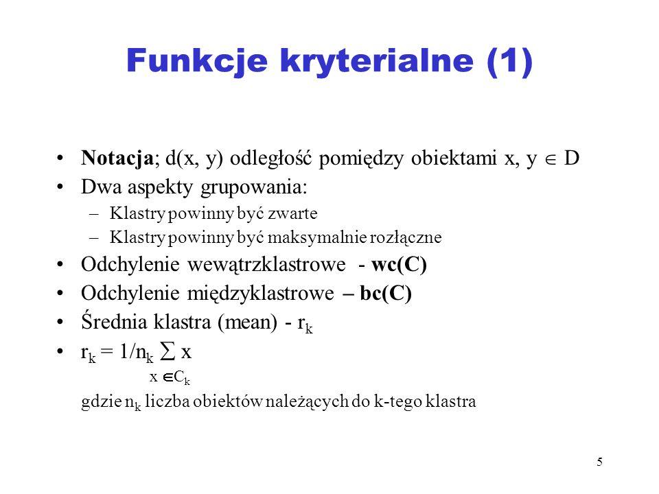 Funkcje kryterialne (1)