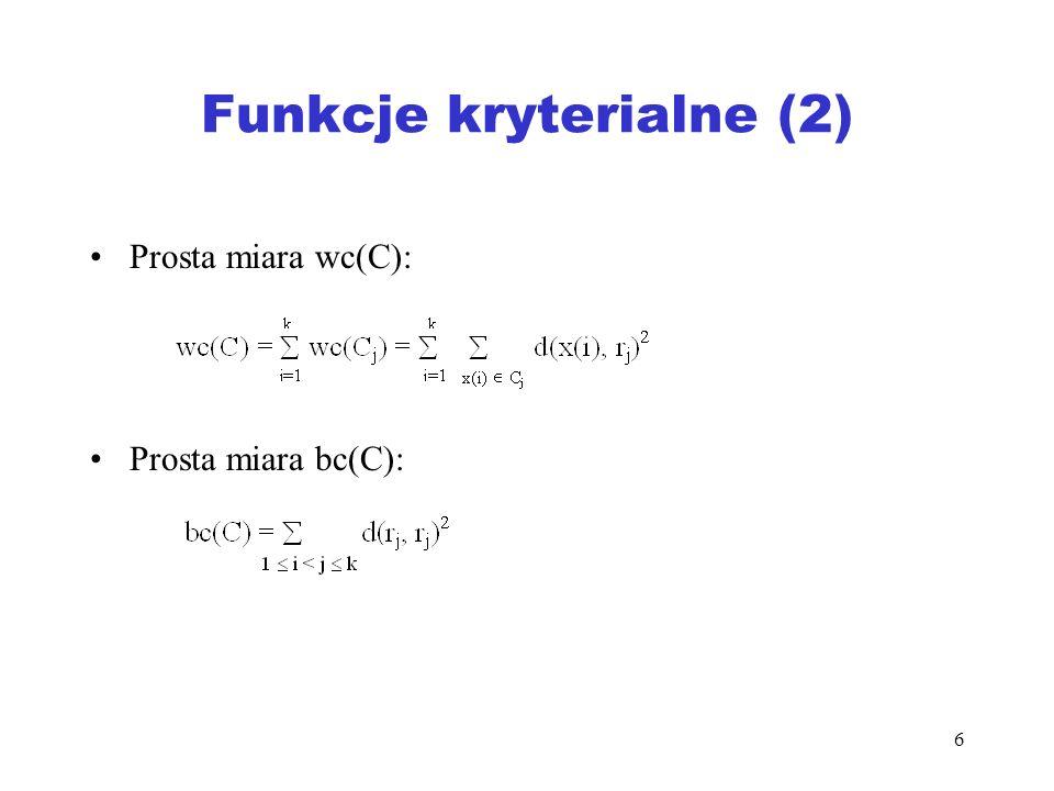 Funkcje kryterialne (2)