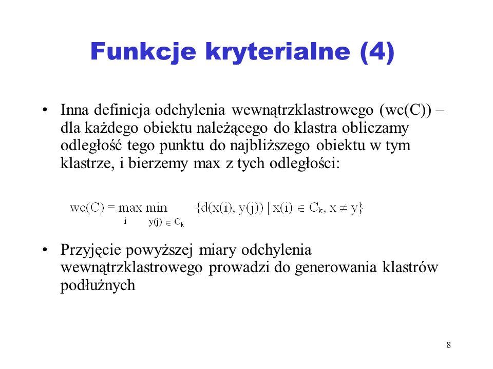 Funkcje kryterialne (4)