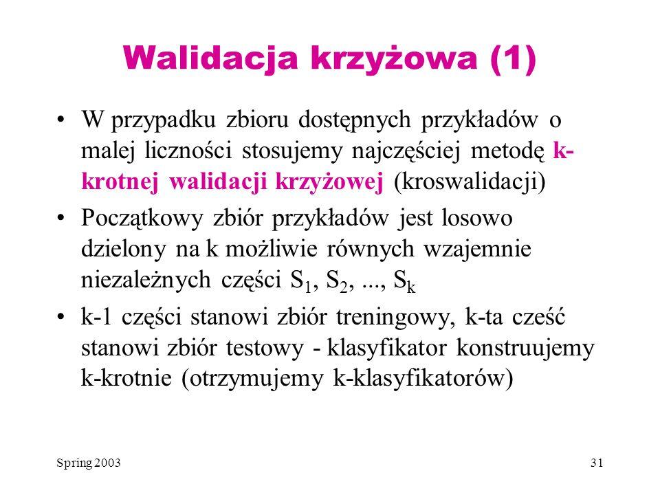Walidacja krzyżowa (1)