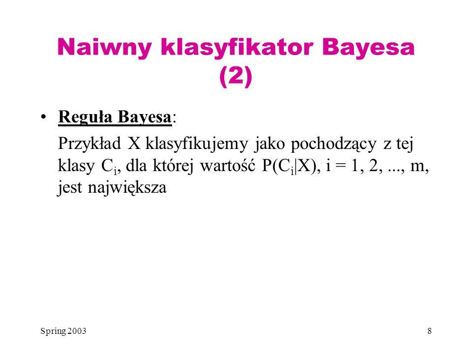 Naiwny klasyfikator Bayesa (2)