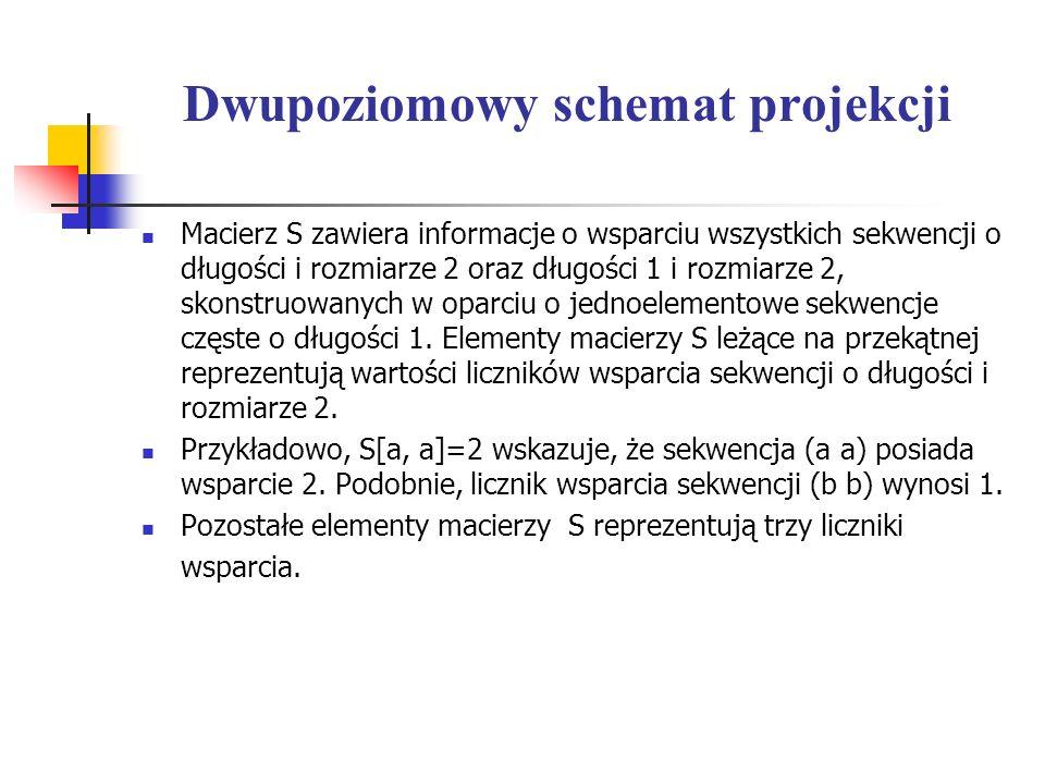 Dwupoziomowy schemat projekcji