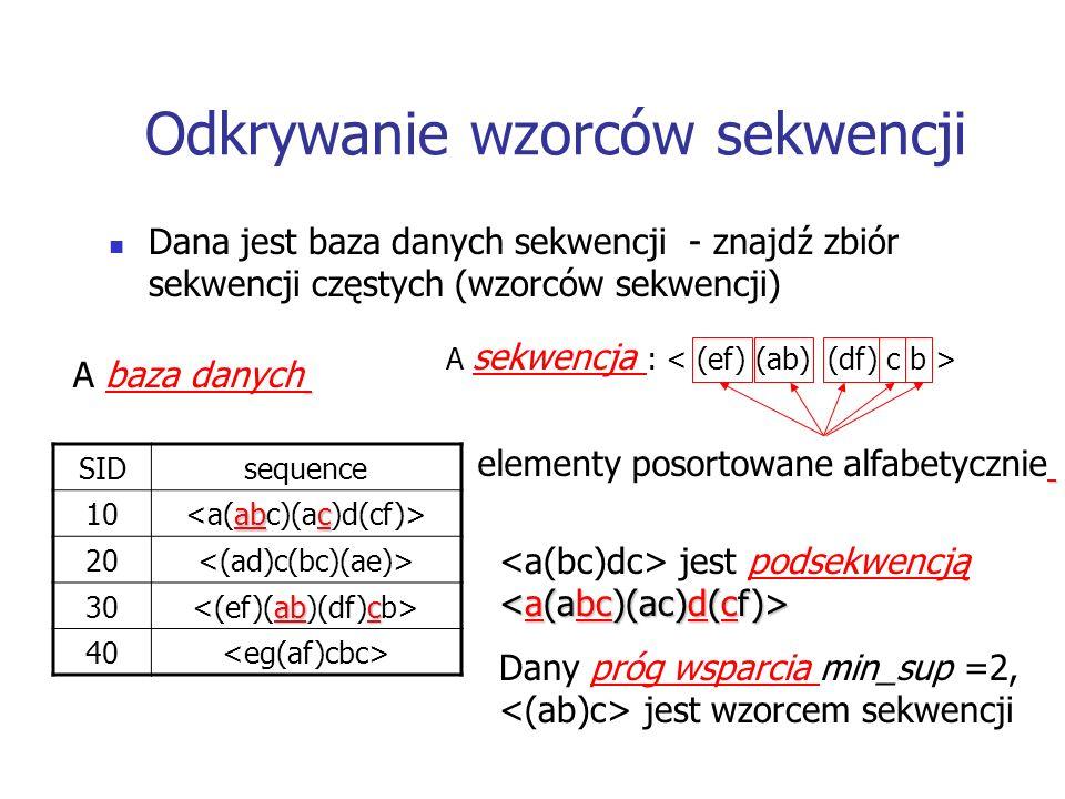 Odkrywanie wzorców sekwencji