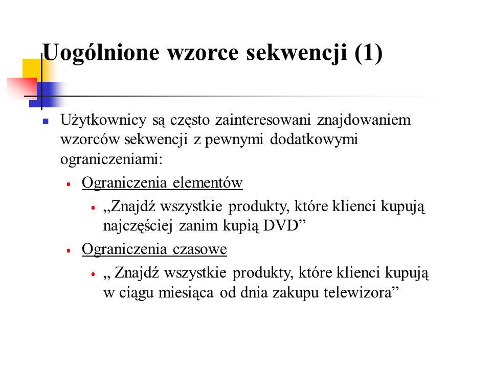 Uogólnione wzorce sekwencji (1)