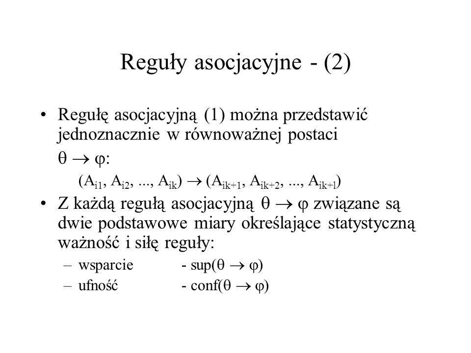 Reguły asocjacyjne - (2)