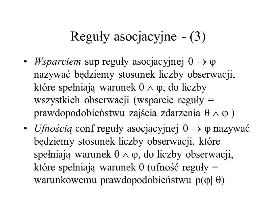 Reguły asocjacyjne - (3)