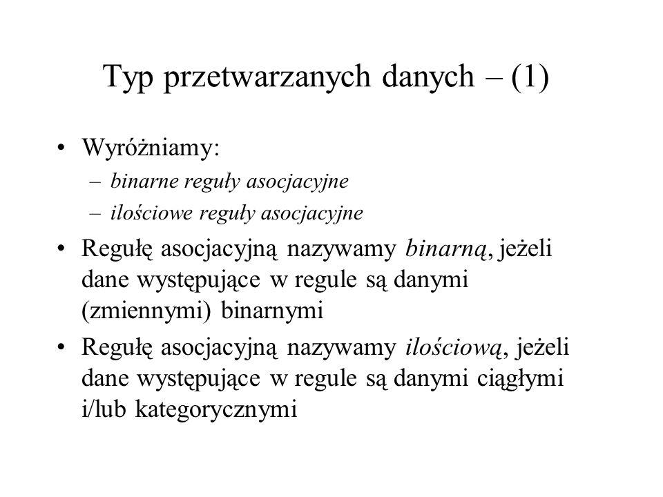Typ przetwarzanych danych – (1)