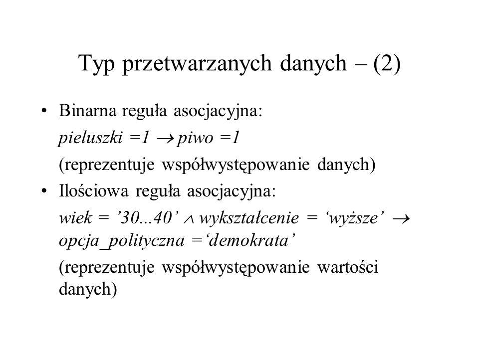 Typ przetwarzanych danych – (2)