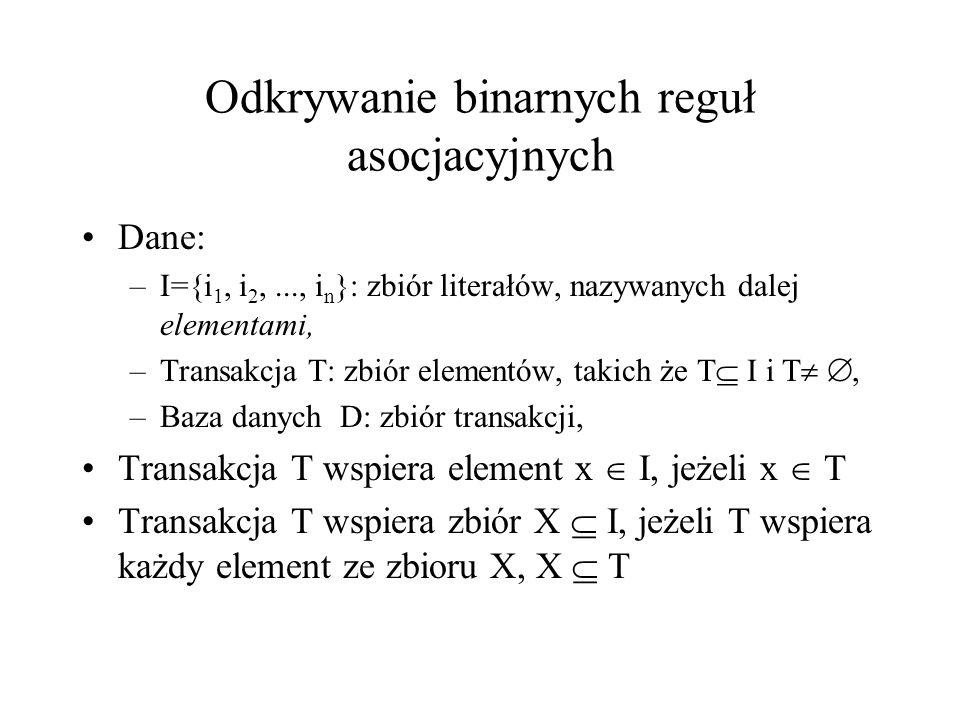 Odkrywanie binarnych reguł asocjacyjnych