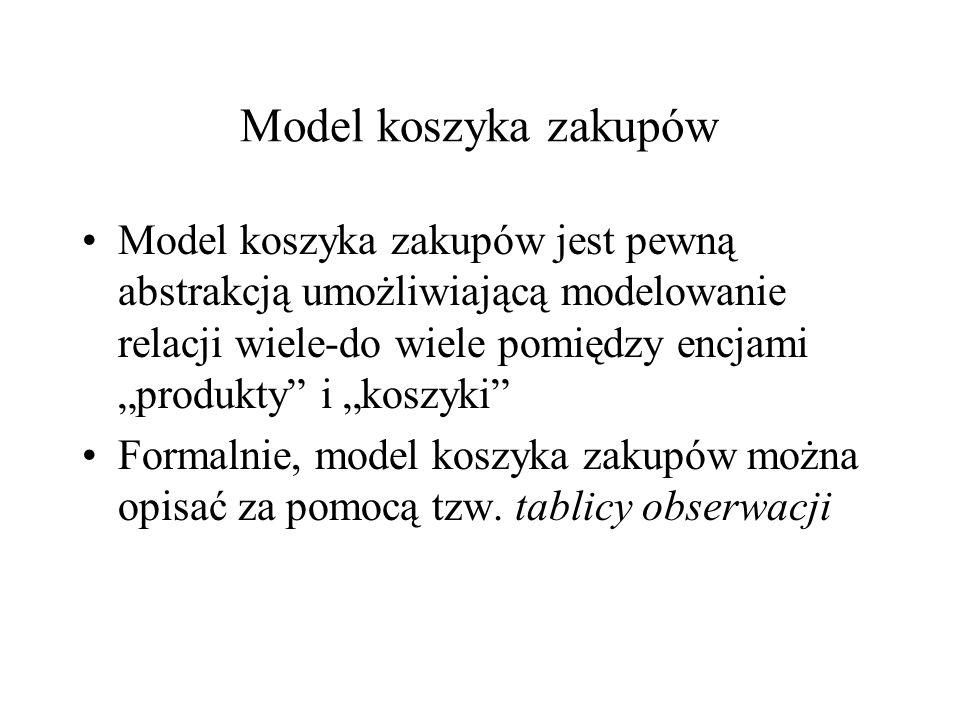Model koszyka zakupów