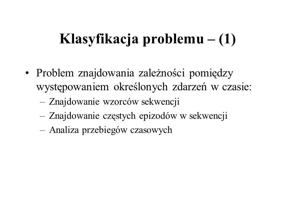 Klasyfikacja problemu – (1)
