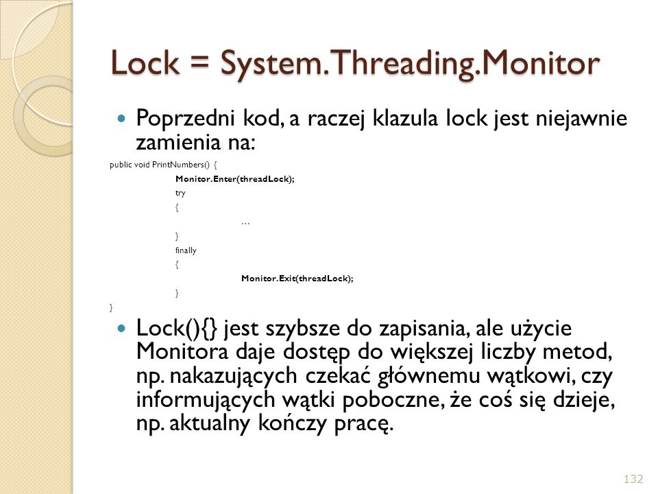 Lock = System.Threading.Monitor