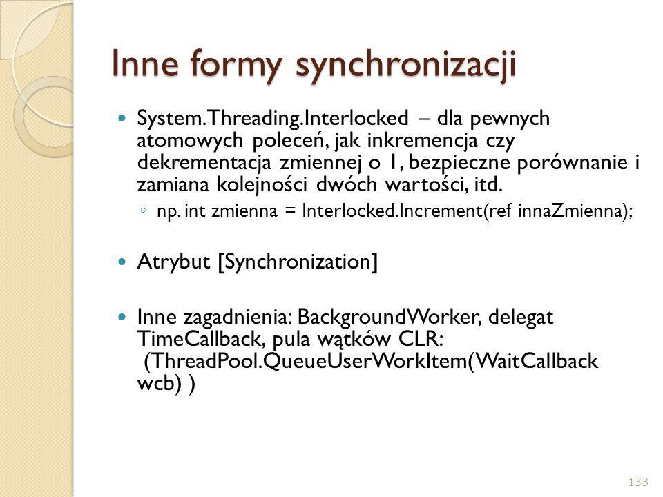Inne formy synchronizacji