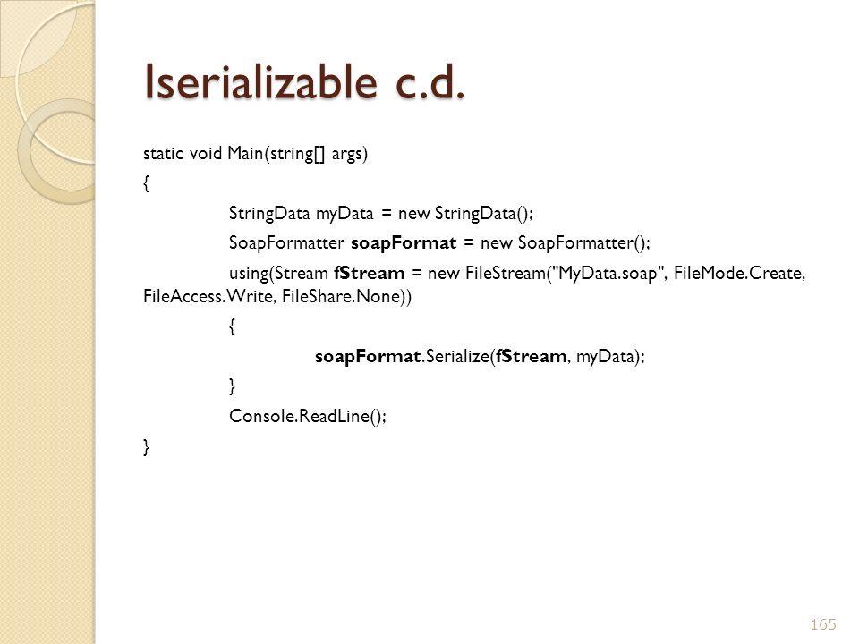 Iserializable c.d.