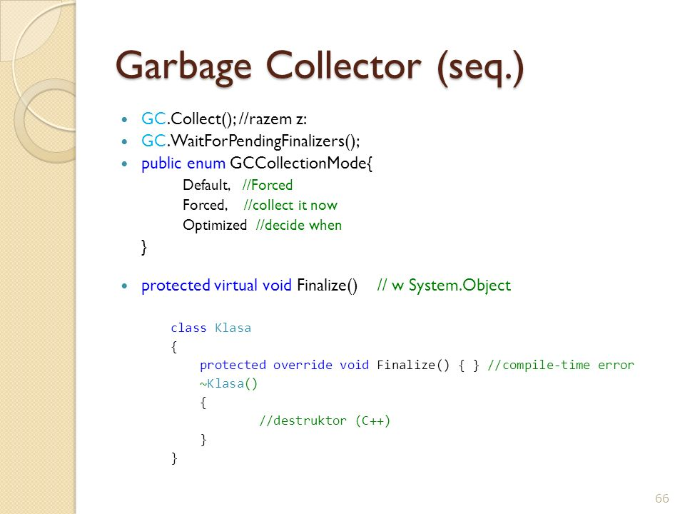 Garbage Collector (seq.)