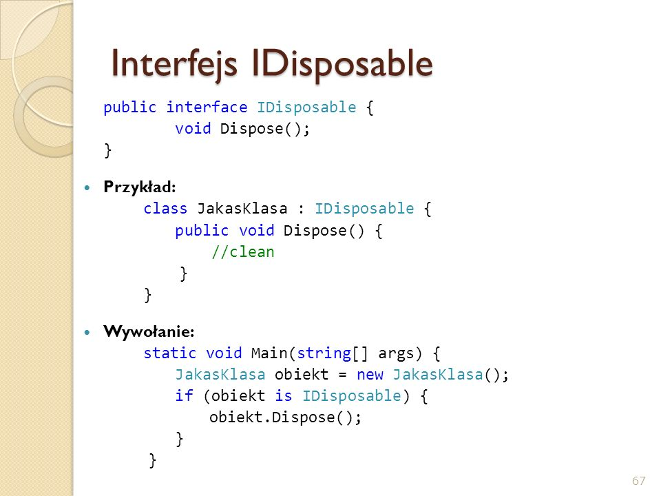 Interfejs IDisposable