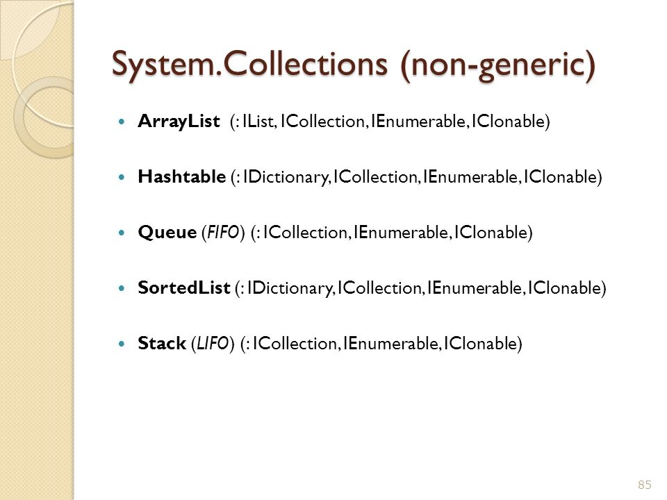 System.Collections (non-generic)