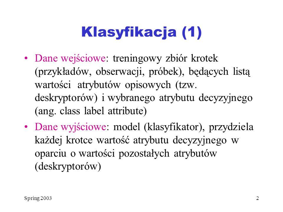 Klasyfikacja (1)
