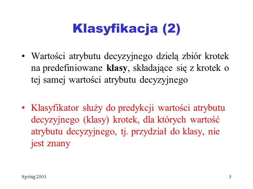 Klasyfikacja (2)