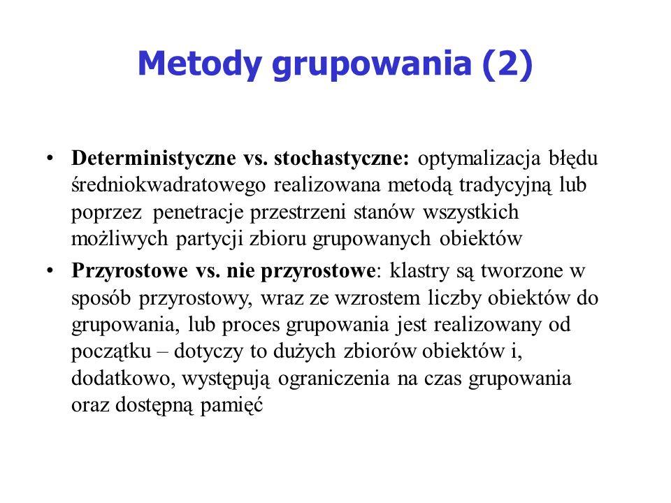 Metody grupowania (2)
