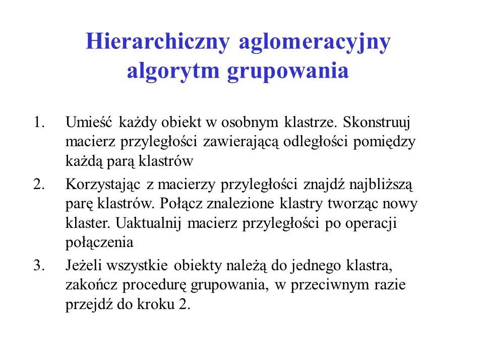 Hierarchiczny aglomeracyjny algorytm grupowania