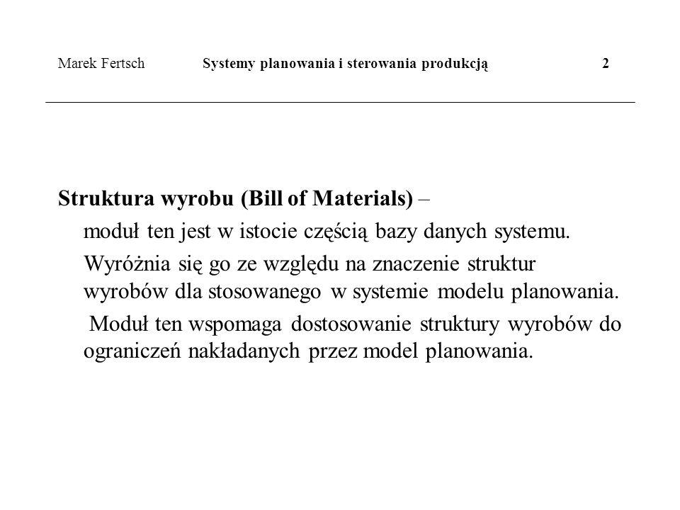 Marek Fertsch Systemy planowania i sterowania produkcją 2