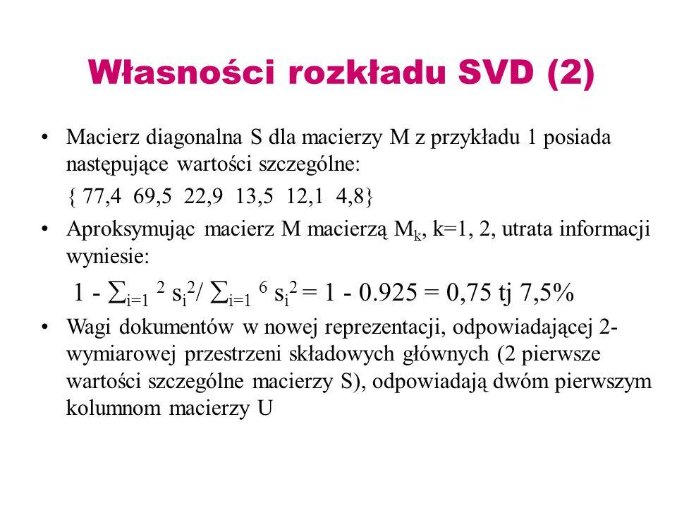 Własności rozkładu SVD (2)