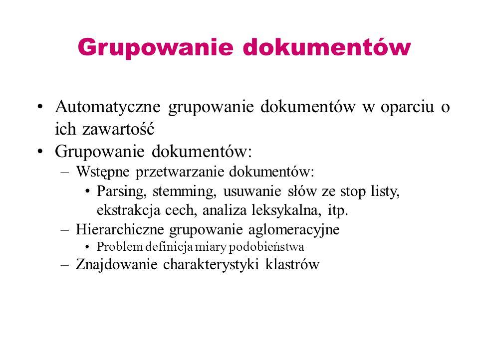 Grupowanie dokumentów
