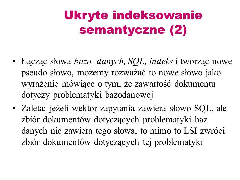 Ukryte indeksowanie semantyczne (2)
