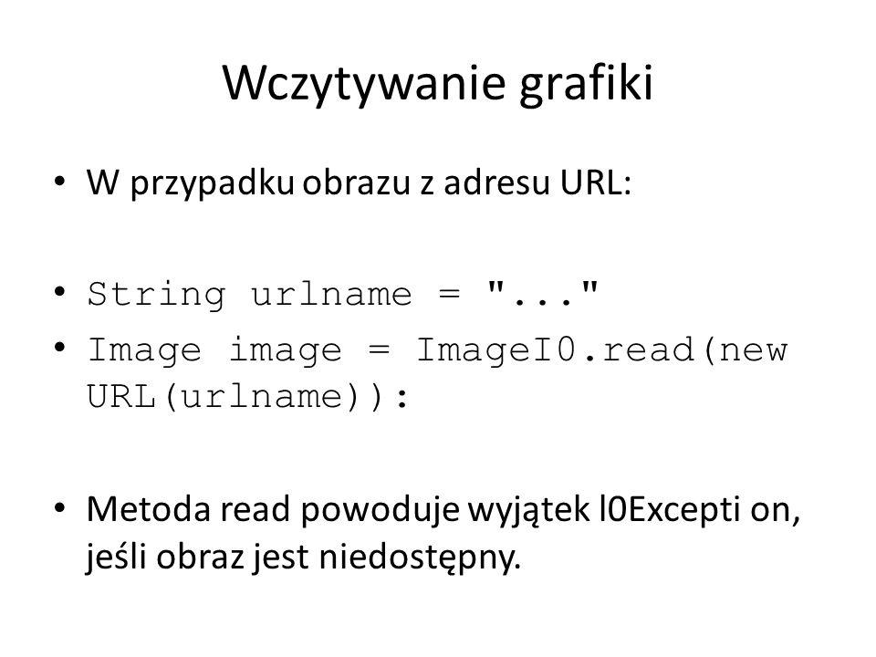 Wczytywanie grafiki W przypadku obrazu z adresu URL: